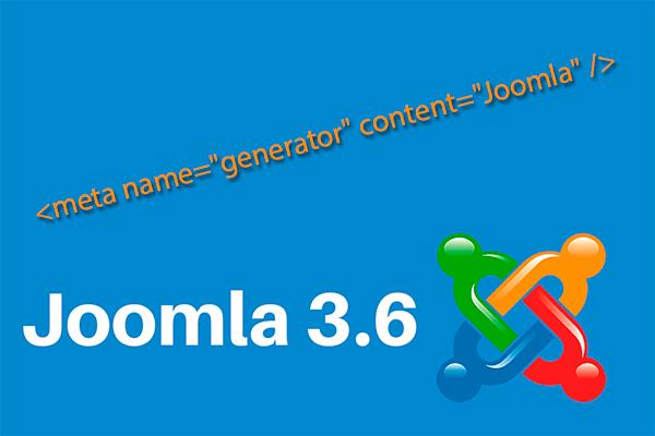 """Как убрать <meta name=""""generator""""> в Joomla 3.6"""