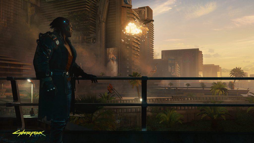 Cyberpunk 2077 wallpaper Admiring the view