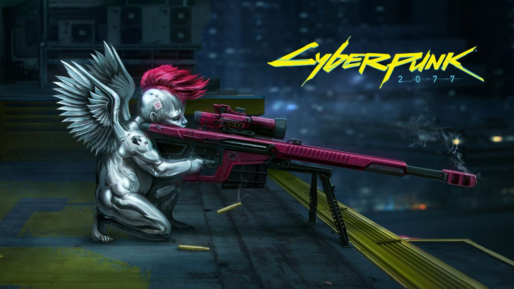 Cyberpunk 2077 wallpaper Valentine's day