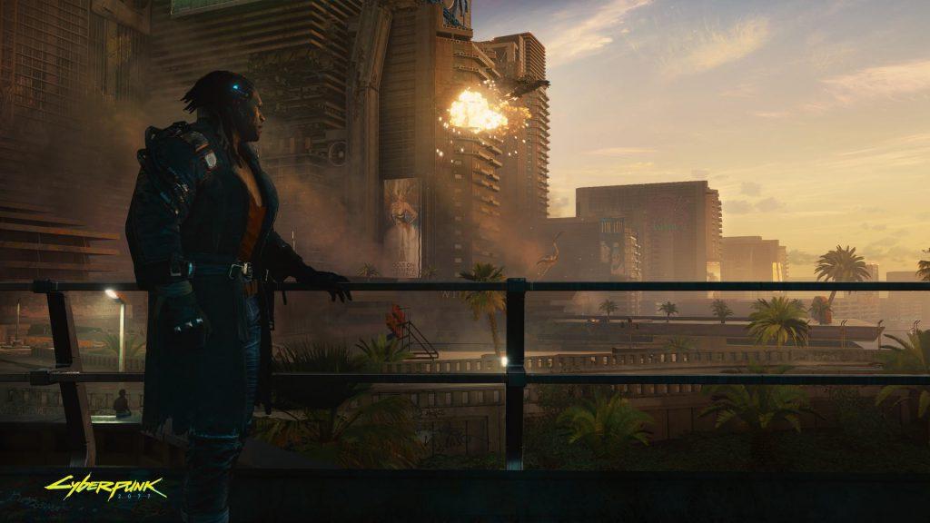 Cyberpunk 2077 Admiring the view