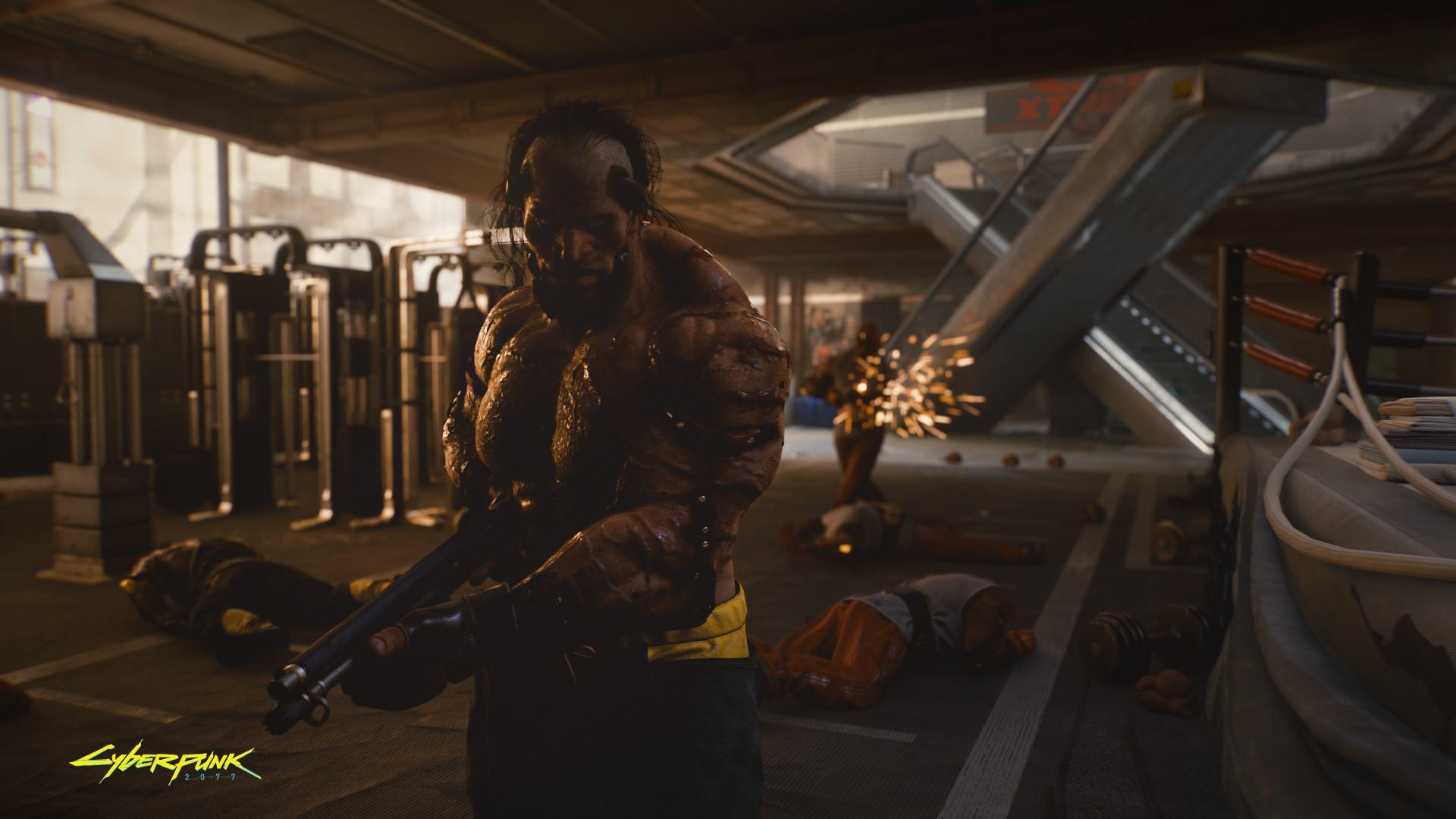 Cyberpunk 2077 Those are big guns