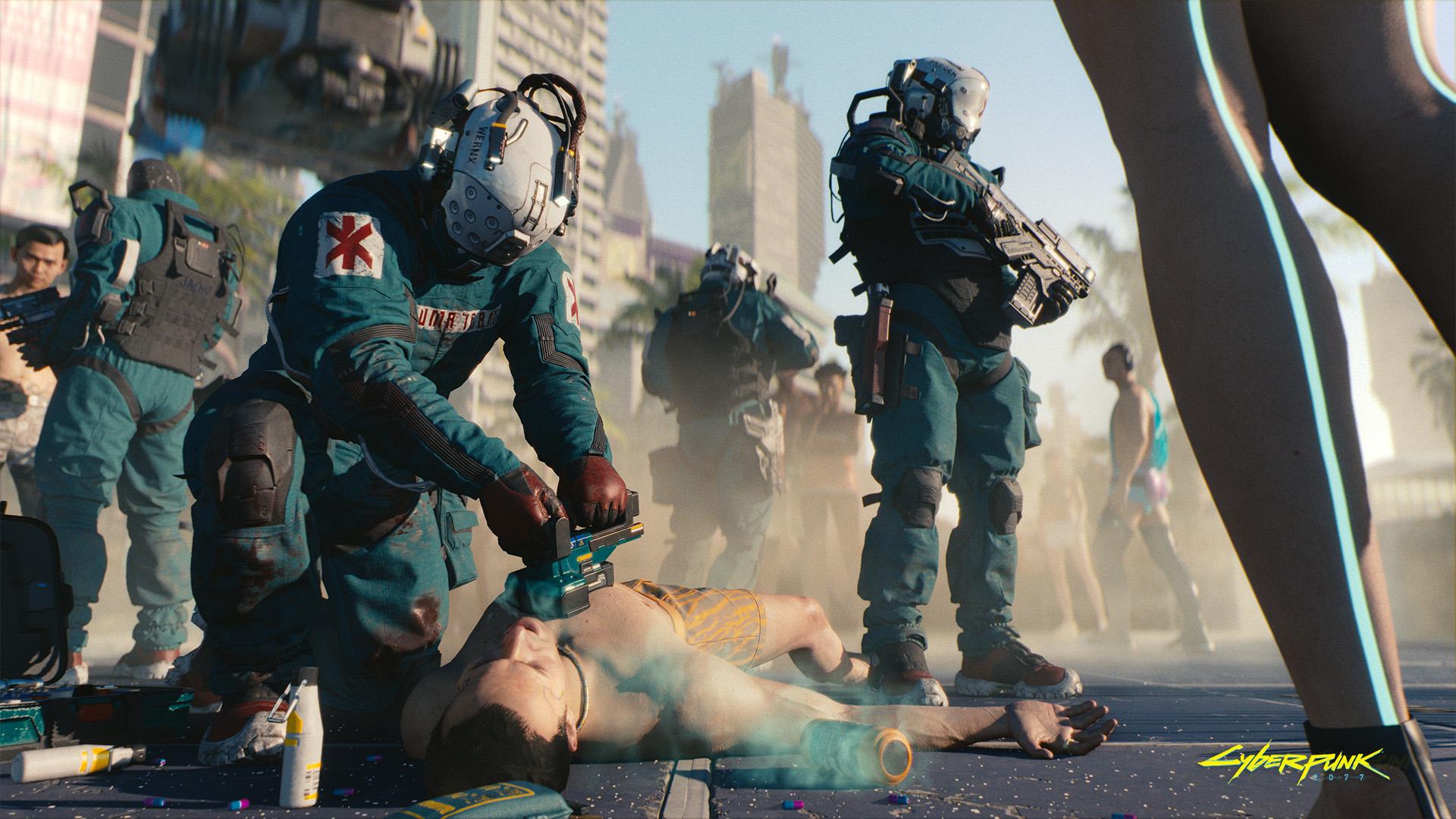 Cyberpunk 2077 wallpaper Trauma team