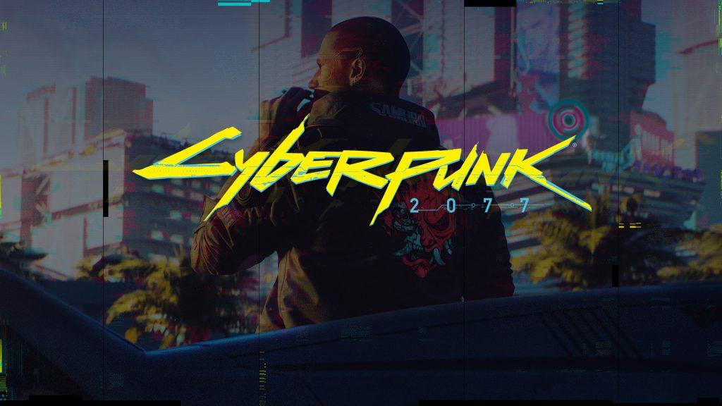 Cyberpunk 2077 wallpaper V logotype